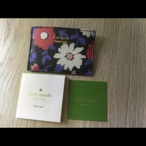 Kate Spade floral card holder